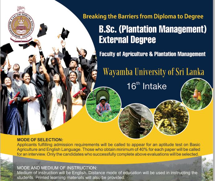 B.Sc. (Plantation Management) External Degree
