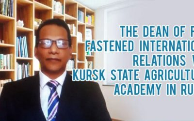 The Dean of FAPM of Wayamba University of Sri Lanka Fastened International Relations with Kursk State Agricultural Academy in Russia, Addressing at their 70th Anniversary