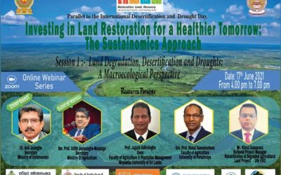 """Register for the Webinar on """"Investing on Land Restoration for a Healthier Tomorrow"""""""